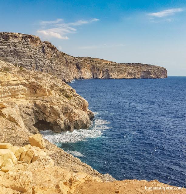 Golden Bay, uma das atrações da Costa Sul de Malta