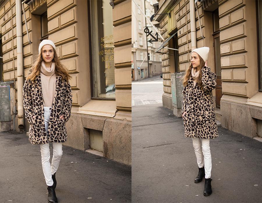 Neutral winter outfit with white jeans // Neutraali talviasu valkoisten farkkujen kanssa