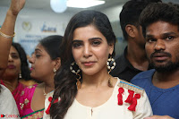 Samantha Ruth Prabhu Smiling Beauty in White Dress Launches VCare Clinic 15 June 2017 051.JPG