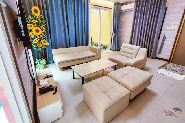 Living area of ON Villas by The Pad, Clark, Pampanga