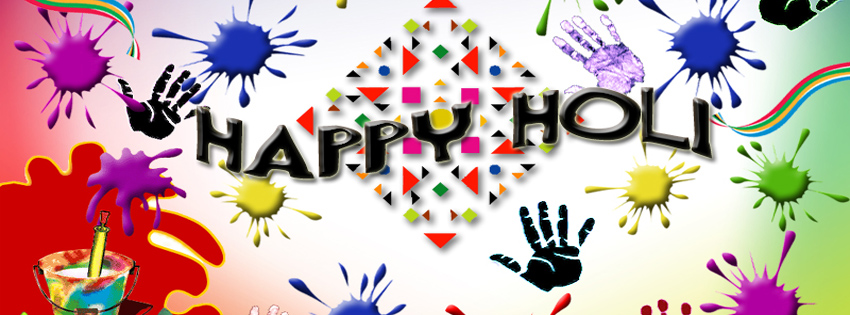 Happy holi Facebook cover photo Hd images status 2019 | Holi fb status cover pic timeline