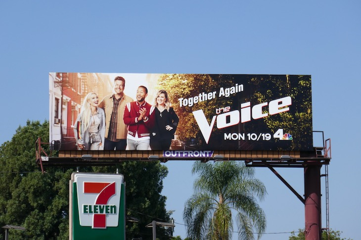 Voice season 19 NBC billboard