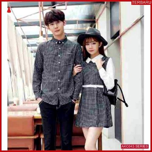 AKC043D54 Dress Couple Pasangan Anak 043D54 Kemeja Dress BMGShop