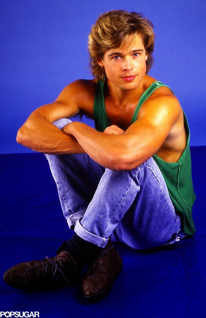 25 interesting pictures of brad pitt u0026 39 s photo shoot in 1980s neck tank tops
