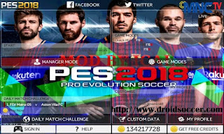FTS Mod PES 2018 by Ical Apk + Data Obb