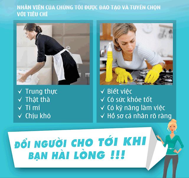 Giúp việc nhà ở Bình Phước