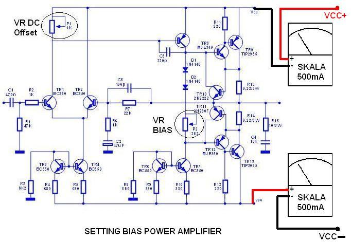 cara setting dco dan bias power amplifier bahar electronic. Black Bedroom Furniture Sets. Home Design Ideas
