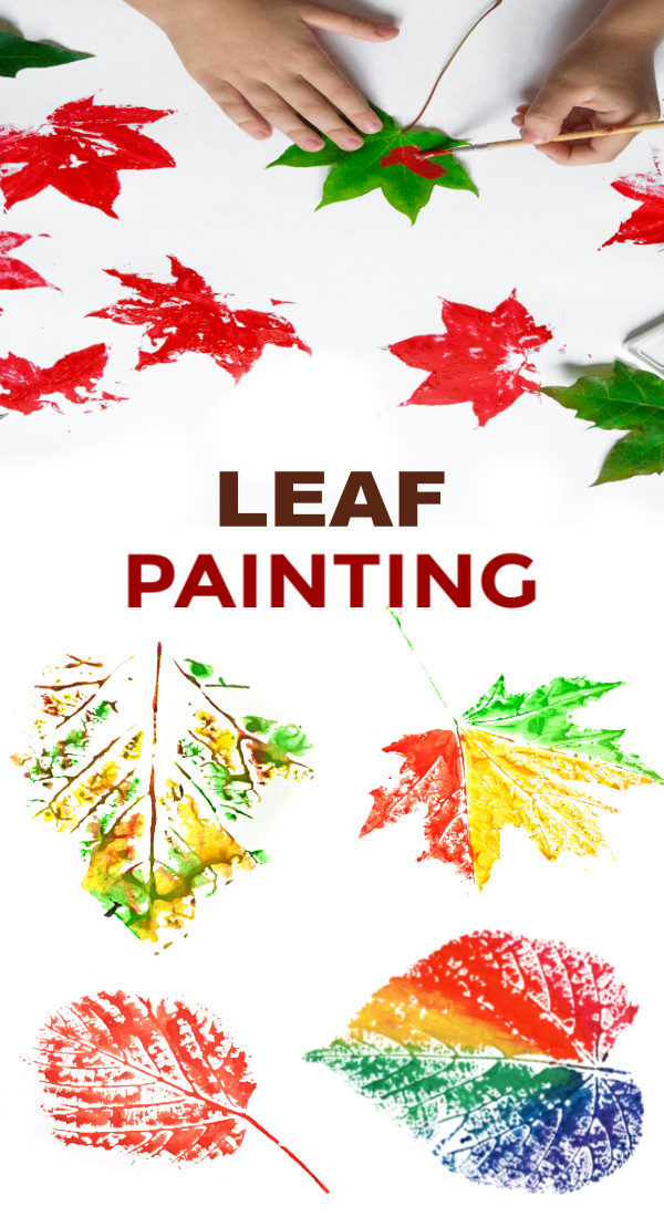 Fun & creative ways for kids to paint with leaves.  Fall leaf crafts for preschool and elementary. #leafart #leafpainting #leafprintart #leafpaintingforkids #leafpaintingdiy #leafcrafts #leafcraftsforkids #leafcraftspreschool #leafartprojectsforkids #leafprinting #fallcrafts #growingajeweledrose #activitiesforkids