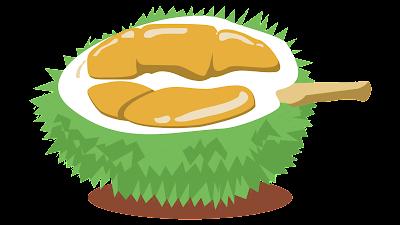 clipart gratis gambar buah durian