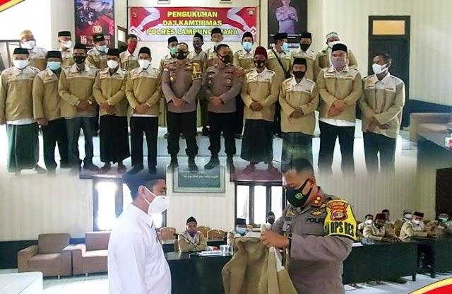 Optimalisasi Peran Masyarakat, Kapolres Lampung Utara Kukuhkan Da'i Kamtibmas