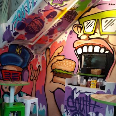 South Bronx Burger restaurant at Pomo Singapore