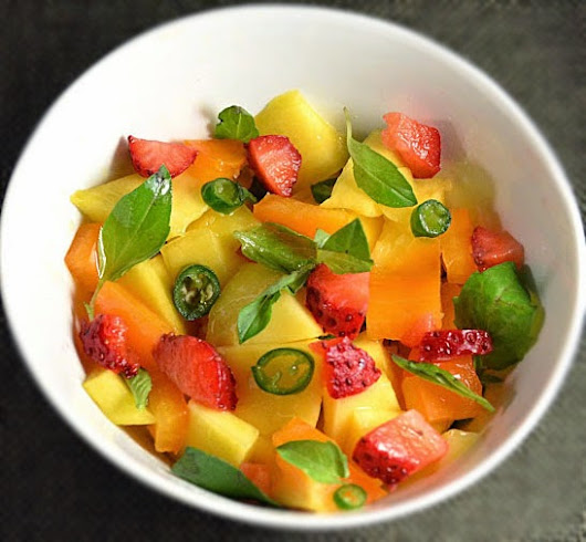 Strawberry Mango Salsa With Thai Flavors