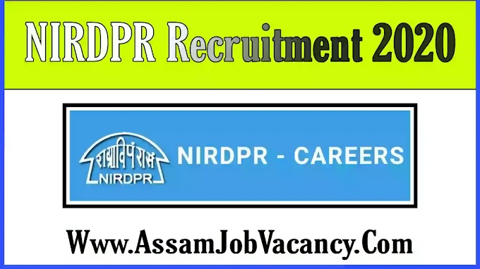 NIRDPR Recruitment 2020 - Apply for Coordinator, Fellow and Resource Person Post