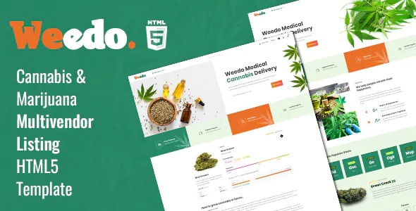 Best Cannabis Listing Website Template