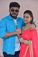 Bhimbika in Red Orange Saree at Sikhandi Movie Launch Spicy Pics 4.jpg