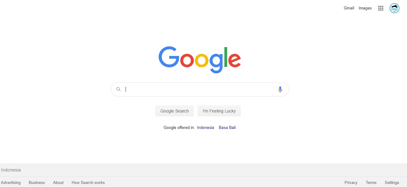 google with css and html