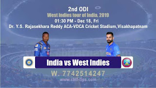 Who will win Today ODI Prediction, 2nd Match Ind vs Wi - Cricfrog