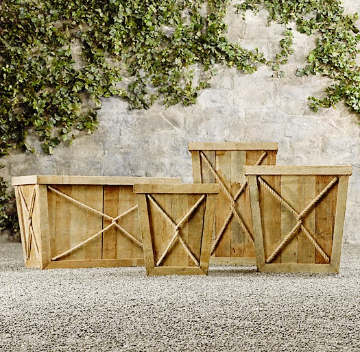 Outdoor Decor: Wood Planters | B.A.S Blog