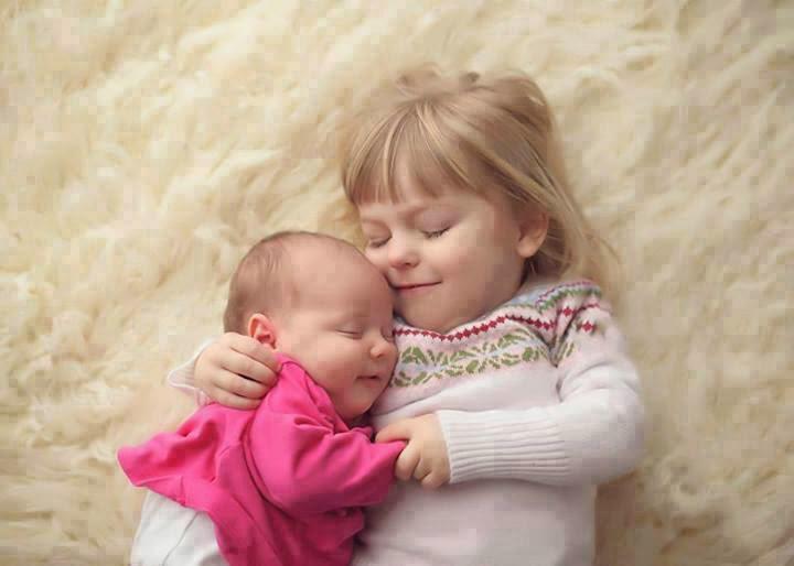 nice cute baby hugging image