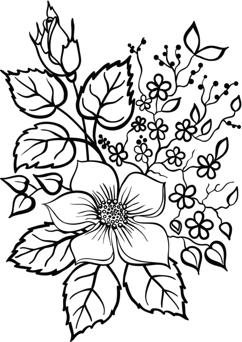 Dibujos de flores para colorear | en Picturalia