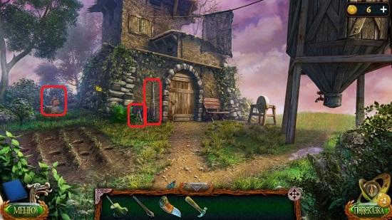 грабли и предметы около старого дома в игре затерянные земли 4 скиталец