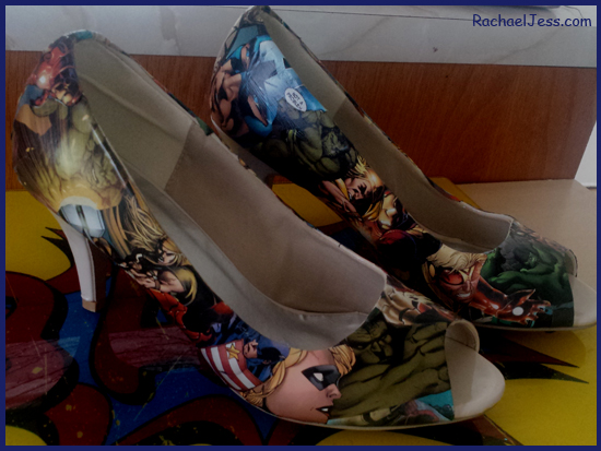 How I created my decoupage shoes for Comicon