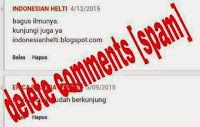 Cara Menghapus Link Aktif Komentar Blog Otomatis