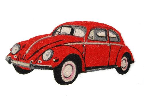 felpudo original con forma de coche