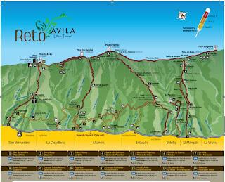 Principales lugares de interes para visitar Parque Nacional El Ávila. Mapa de rutas del Avila Warairarepano. Principales rutas de accesos para visitar Parque Nacional El Ávila