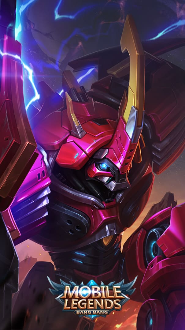 Wallpaper Grock Codename Rhino Skin Mobile Legends HD for Android and iOS