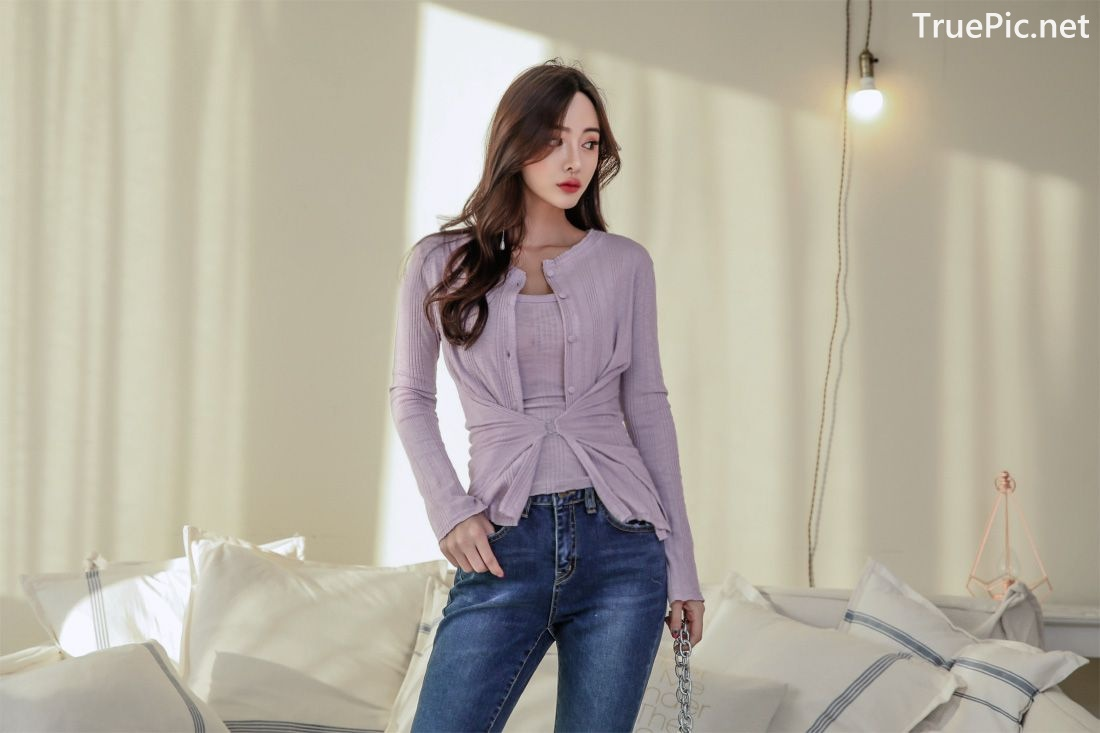 Image-Korean-Fashion-Model-Kim-Bo-Ram-Jeans-Set-Collection-TruePic.net- Picture-3