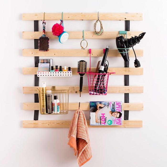 Organizador con un somier de cama DIY