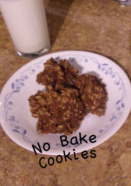 No Bake Cookies -Made in a flash without a oven!