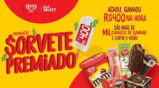Promoção Sorvete Premiado Shell Select