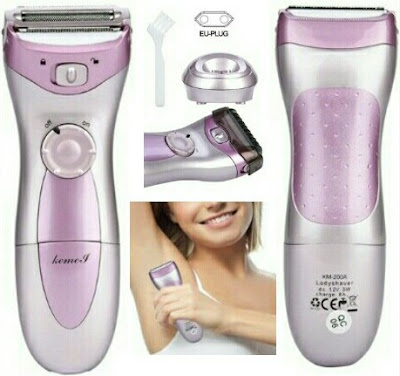 Kemei Rechargeable Hair Trimmer for Women - Female Shavers