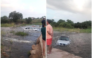 Carro é arrastado pelas águas no interior da Paraíba
