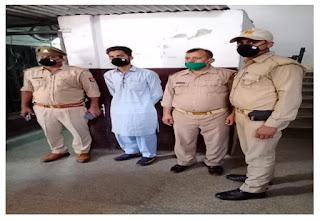 कानपुर नगर के थाना अनवरगंज पुलिस द्वारा वांछित अभियुक्त को गिरफ्तार किया