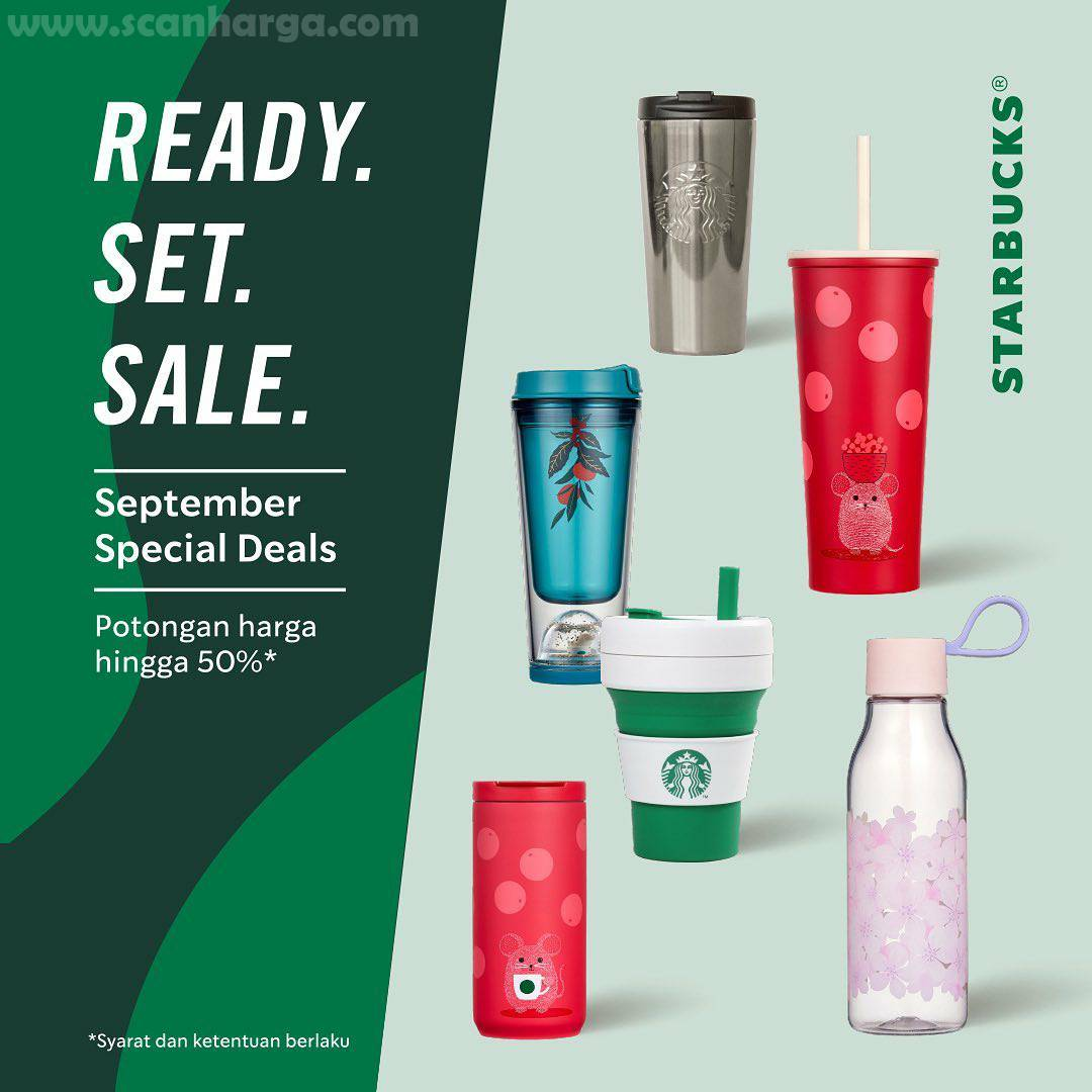 Starbucks Promo Tumbler Merchandise Sale [Ready Set Sale] Diskon 50%* Periode 12 - 30 September 2020