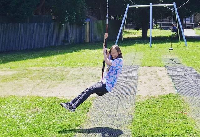 My eldest on the zipline