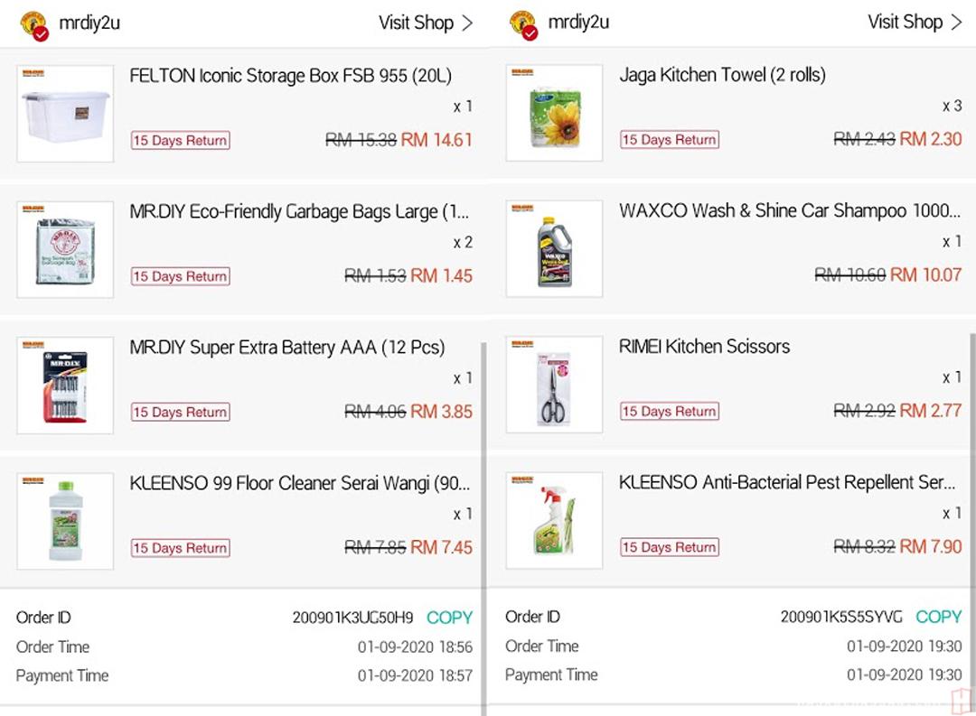 Jimat Bershopping Online di MrDIY Shopee