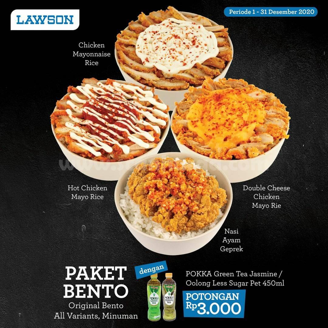 LAWSON Promo PAKET BENTO – dengan Pokka Green Tea dapat Potongan Rp 3.000