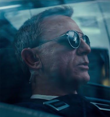 Daniel Craig as James Bond in No Time To Die wearing Vuarnet Edge-1613 Sunglasses