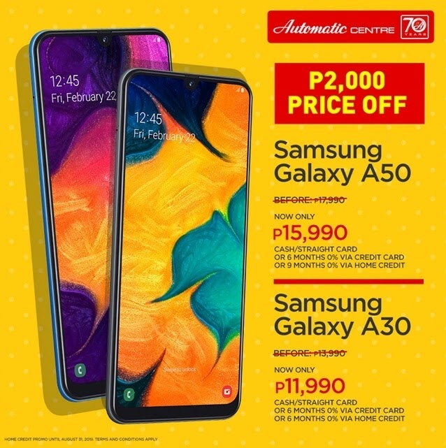 Samsung Galaxy A50, Galaxy A30 Now Php2000 More Affordable