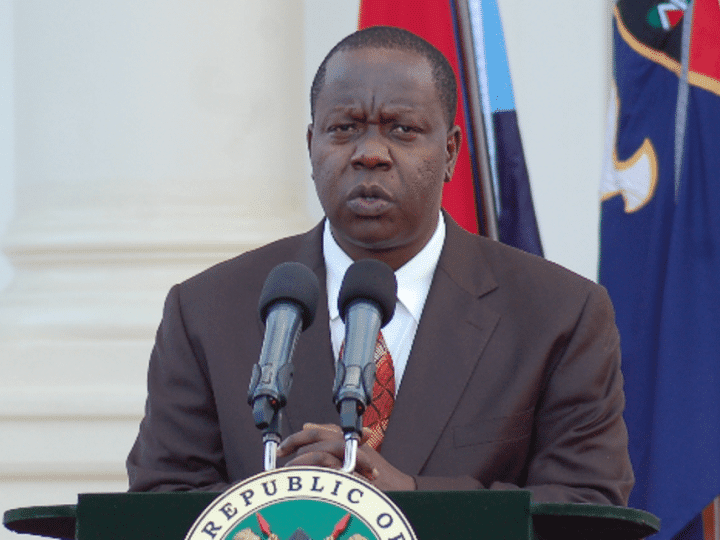 CS Matiang'i Says Operation At Riverside Almost Complete