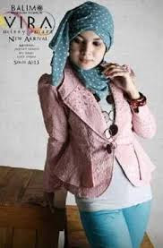 Model Baju Rompi Batik Remaja Muslimah Terbaru