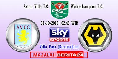 Prediksi Aston Villa vs Wolverhampton — 31 Oktober 2019