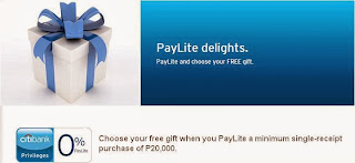 Citibank Credit Card Promo: PayLite and choose your FREE gift