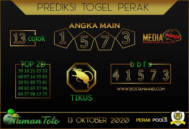 Prediksi Togel PERAK TAMAN TOTO 13 OKTOBER 2020