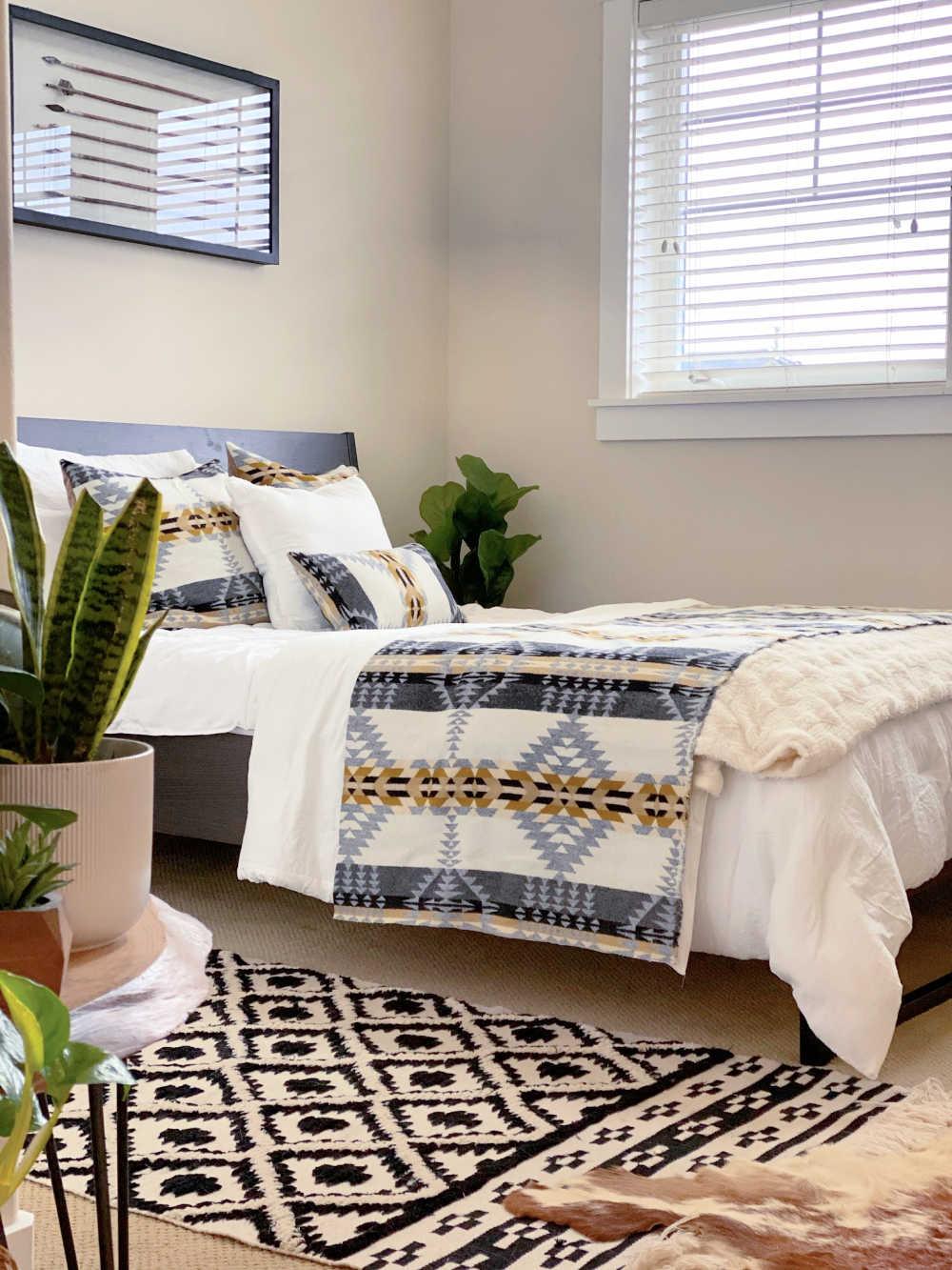 boho bedroom layers