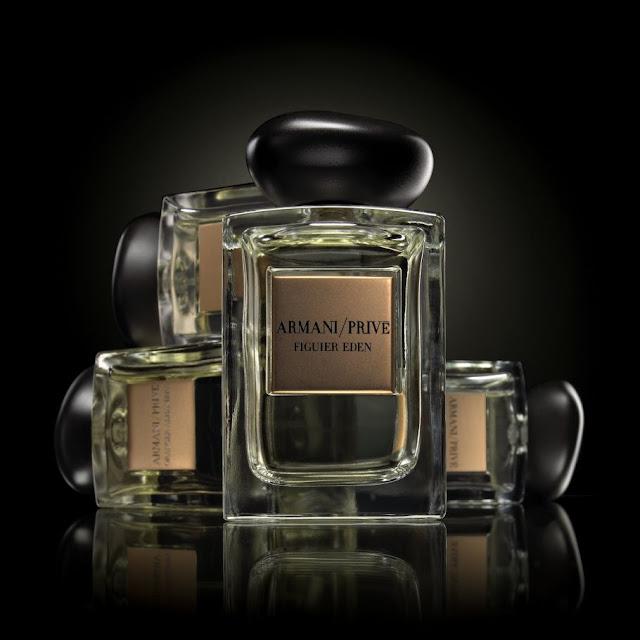Oficjalne zdjęcie promujące perfumy Armani Prive o nazwie Figuier Eden